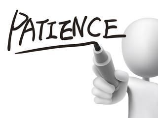 patience word written by 3d man
