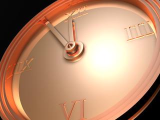 3d model - golden clock