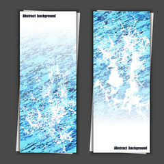 Set of banner templates with abstract background