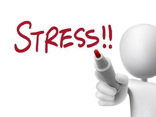 stress word written by 3d man