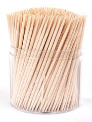 wooden tooth picks isolated