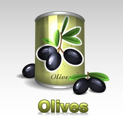 Bank with black olives