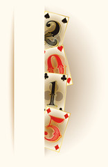 New 2015 year casino poker banner, vector illustration
