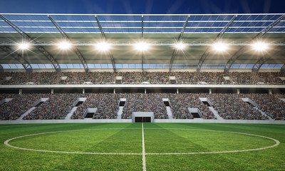 Fototapeta stadion piłkarski środkowa linia