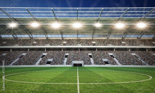 Foto op Canvas Stadion Stadion Mittellinie 2