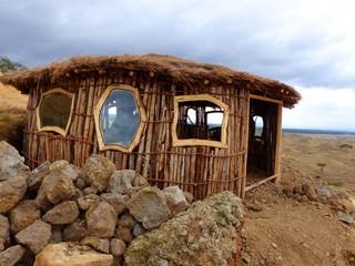 Hadzda Hütte in Mangola Tansania Afrika
