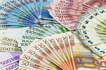 Euro Banknoten gefächert