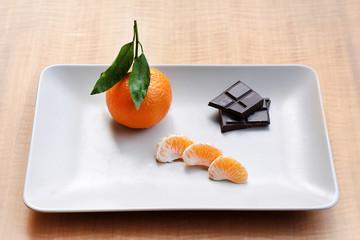 Mandarin and dark chocolate