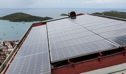 Solar Panels on Tropical House.