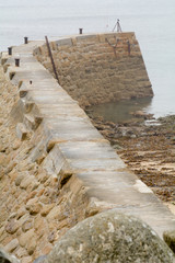 Curved sea wall