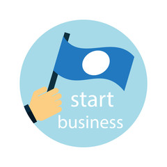 Business strategy, development, startup icon