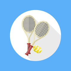 Tennis rackets and ball icon