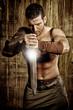 Spartaner mit Schwert