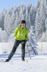 Langlaufen im Skating-Stil