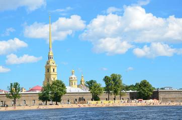 Санкт-Петербург, Петропавловская крепость летом