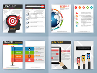 Set of Flyer, Brochure Design Templates. Infographic Concept.