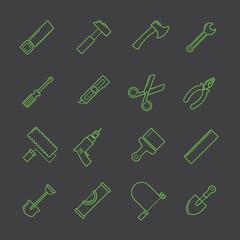 A tool icon set