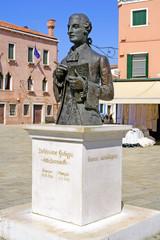 Monument Baldassare Galuppi - Italian composer, Burano, Venice