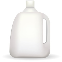 Illustration of white plastic bottle