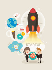 Start up business concept illustration