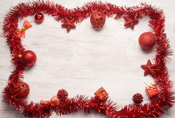 red christmas decoration frame