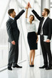 canvas print picture - Business Team. Successful Business People Celebrating a Deal