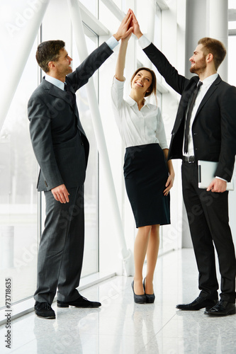 canvas print picture Business Team. Successful Business People Celebrating a Deal