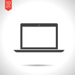 Vector laptop icon. Eps10