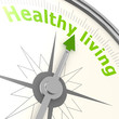 canvas print picture - Healthy living compass