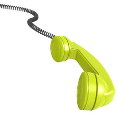 Green telephone receiver
