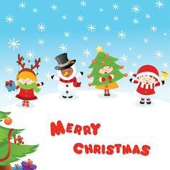Costumed Kids' Christmas Card