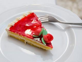 wedding cake portion