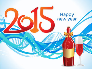 abstract artistic new year background