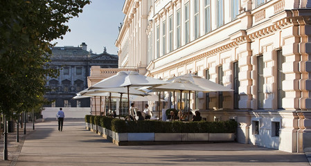Viennese coffee house beside the famous Albertina Museum