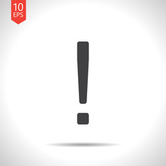 Vector exclamation mark icon. Eps10