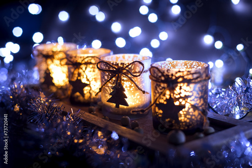 Advent, four candles decorated - 73720441