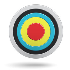 Colour round darts target aim isolated
