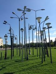 strassenbeleuchtung im park