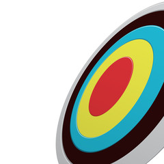 Round colour darts target aim isolated on white