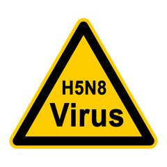 wso100 WarnSchildOrange - Symbol Schild - H5N8 Virus g2631