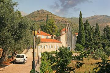 The monastery Praskvica. Old stone monastery of Montenegro