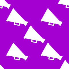Megaphone, Loud-hailer web icon. flat design. Seamless gray