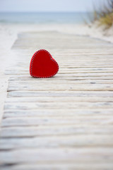 Heart on the road to the sea