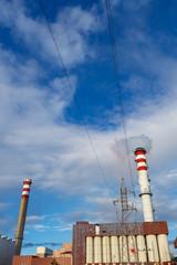 factory chimneys