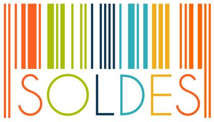 Code Barre Soldes Couleurs vintage