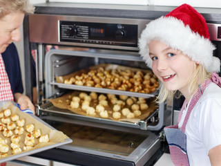 Baking biscuits for christmas
