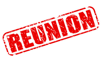 Reunion red stamp text