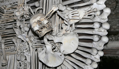 Sedlec Ossuary --small Roman Catholic chapel, Czech Republic