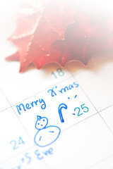 holiday and calendar date with fun schedule
