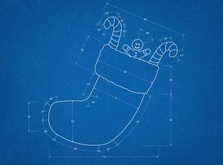Christmas Sock Blueprint